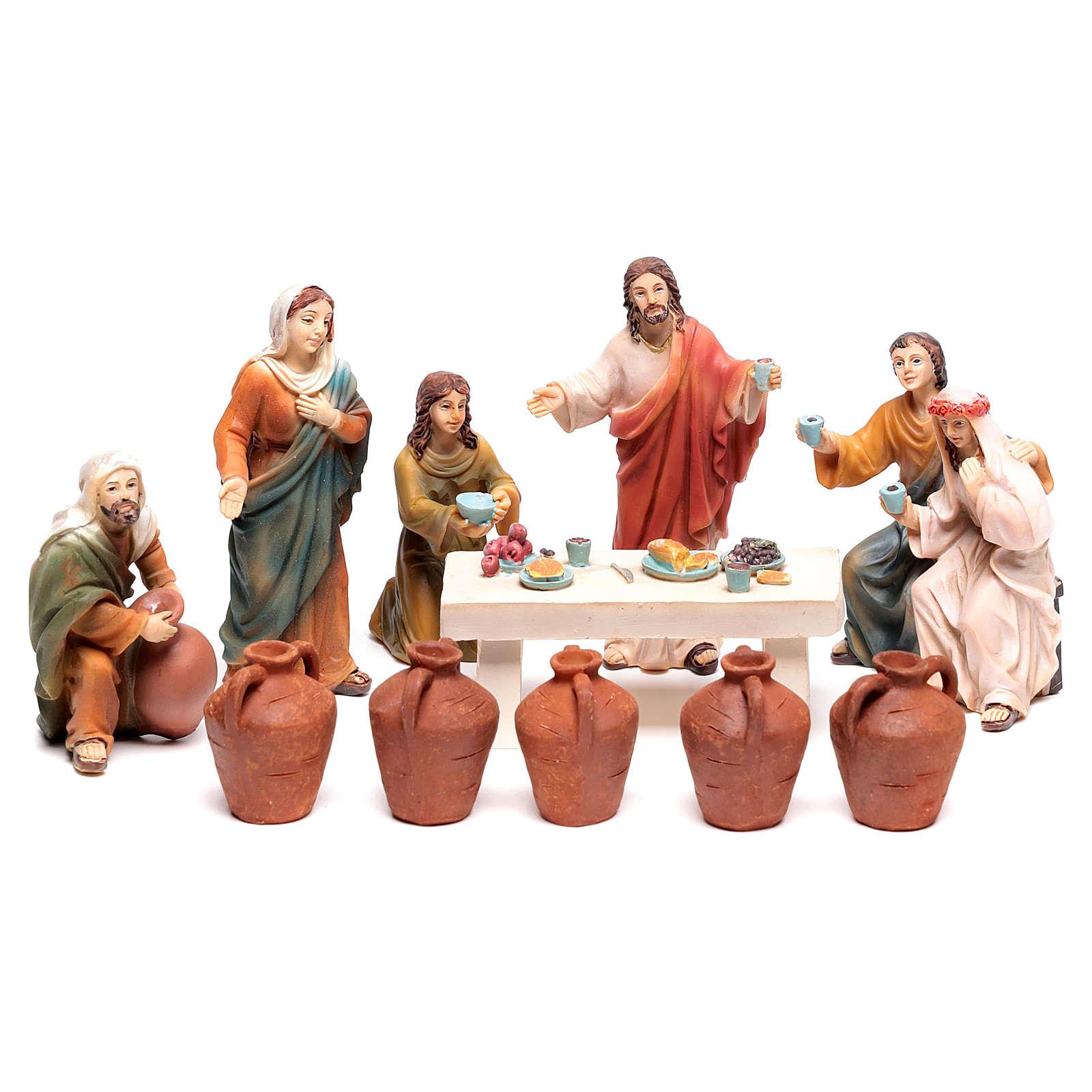 Scène vie de Jésus Noces de Cana 9 cm 4