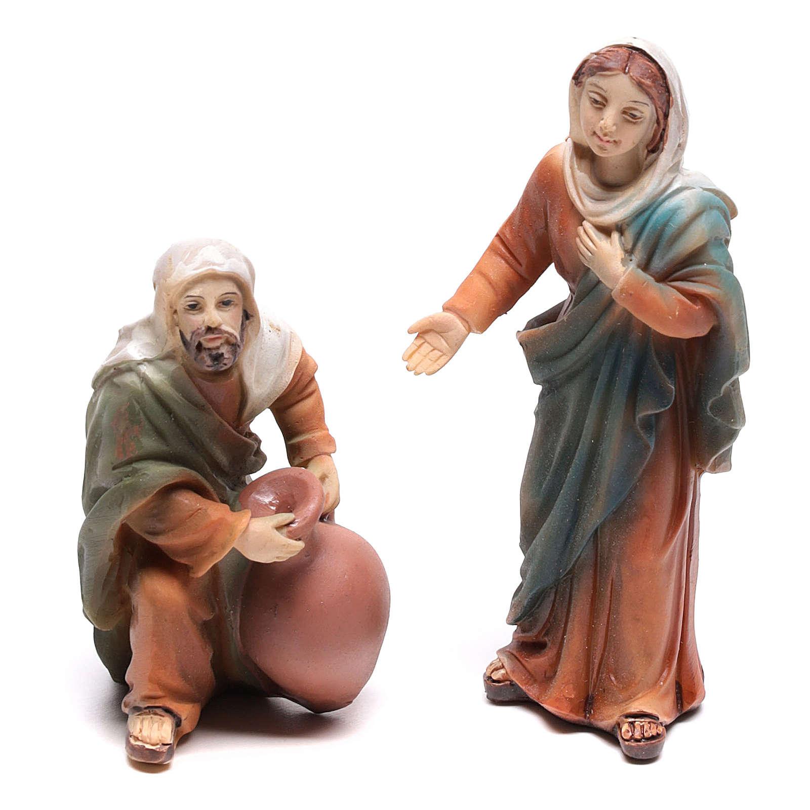 Scena vita di Gesù le nozze di Cana 9 cm 4