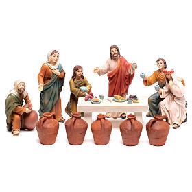 Statue in resina e PVC: Scena vita di Gesù le nozze di Cana 9 cm