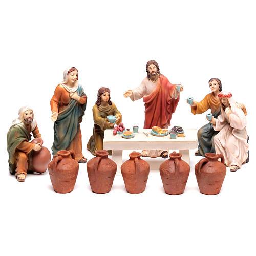 Scena vita di Gesù le nozze di Cana 9 cm 1