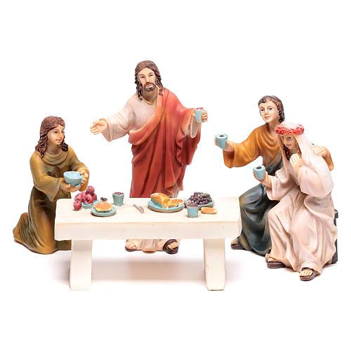 Scena vita di Gesù le nozze di Cana 9 cm 2