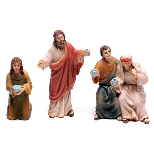 Scena vita di Gesù le nozze di Cana 9 cm 3