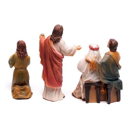 Scena vita di Gesù le nozze di Cana 9 cm 7