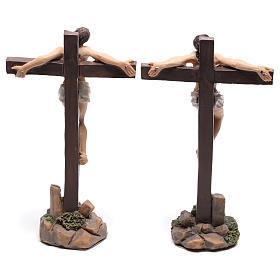 Estatuas de los dos ladrones en las cruces 9 cm s4