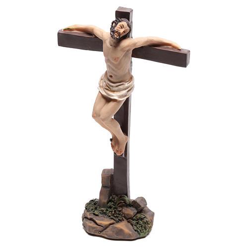 Estatuas de los dos ladrones en las cruces 9 cm 2