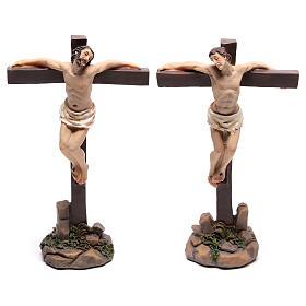 Santons des deux voleurs sur la croix 9 cm s1