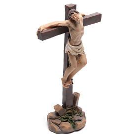 Santons des deux voleurs sur la croix 9 cm s3