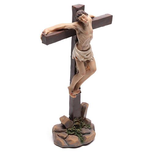 Santons des deux voleurs sur la croix 9 cm 3