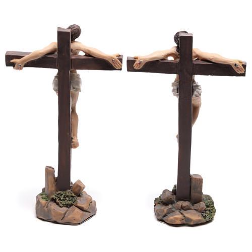 Santons des deux voleurs sur la croix 9 cm 4