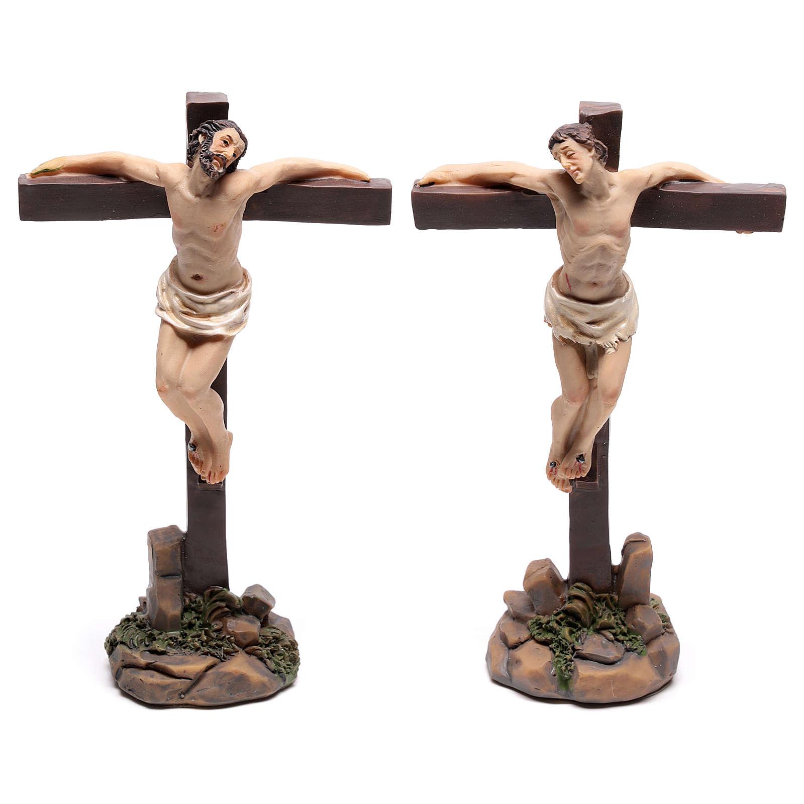 Statuine dei due ladroni sulla croce 9 cm 4