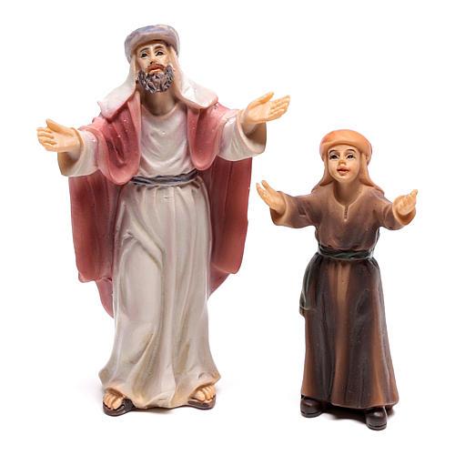 Shepherd figurines, entrance of Jesus into Jerusalem 9 cm 2