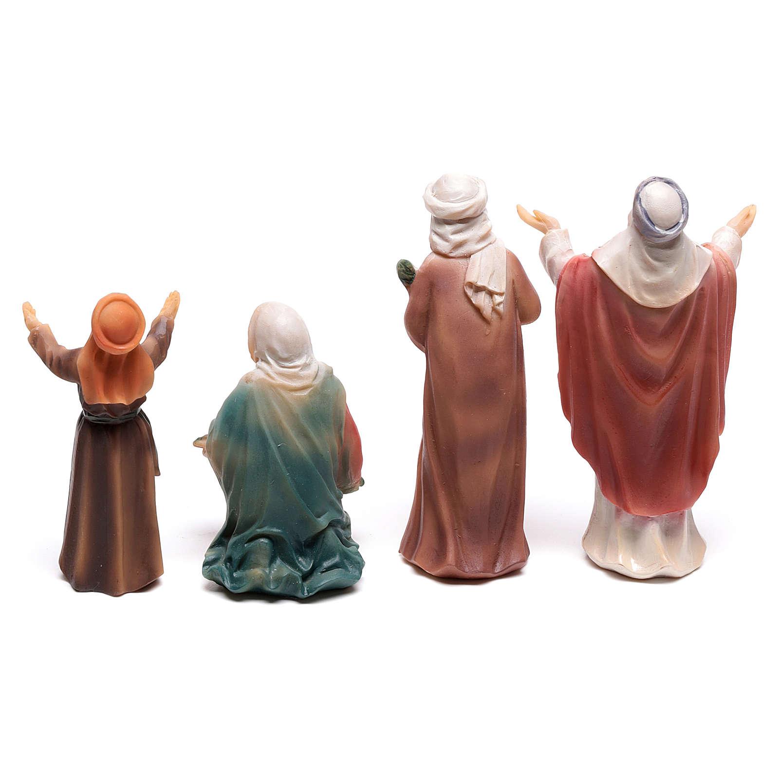 Santons bergers entrée de Jésus à Jérusalem 9 cm 4