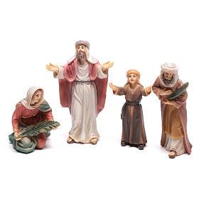 Statues en résine et PVC: Santons bergers entrée de Jésus à Jérusalem 9 cm