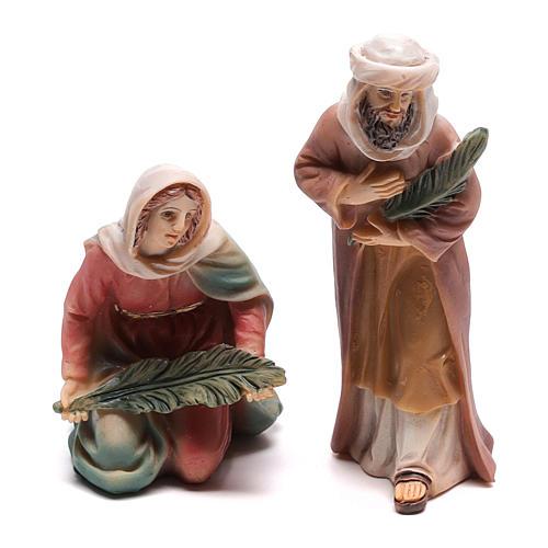 Santons bergers entrée de Jésus à Jérusalem 9 cm 3