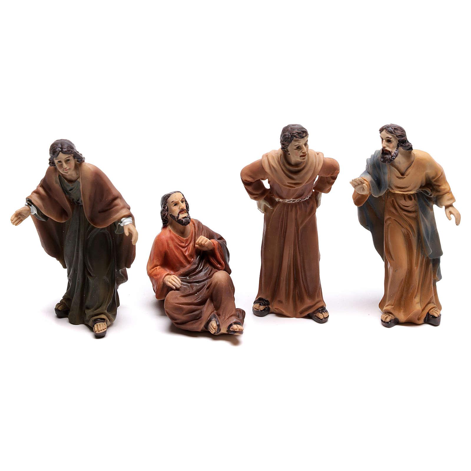 Santons peuple scène condamnation de Jésus 9 cm 4