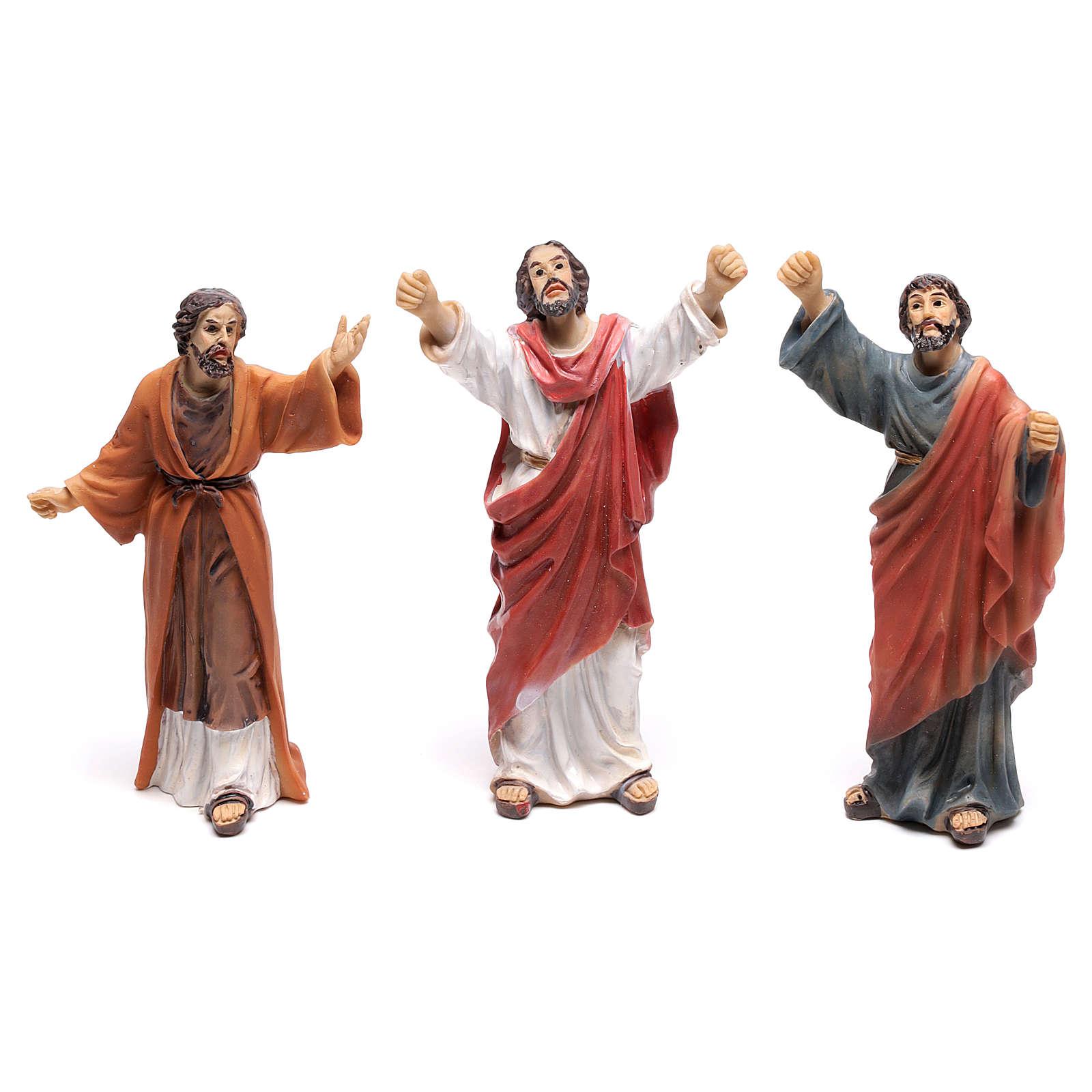 Statuine popolo scena condanna a Gesù 9 cm 4