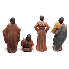 Statuine popolo scena condanna a Gesù 9 cm s5