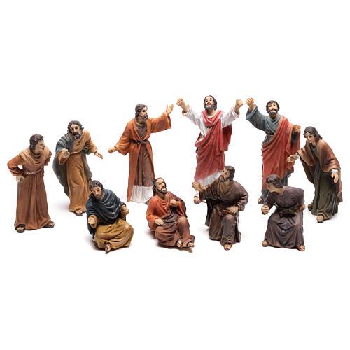 Statuine popolo scena condanna a Gesù 9 cm 1