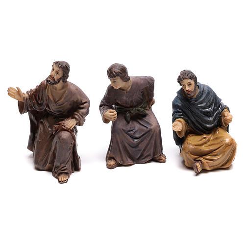 Statuine popolo scena condanna a Gesù 9 cm 3