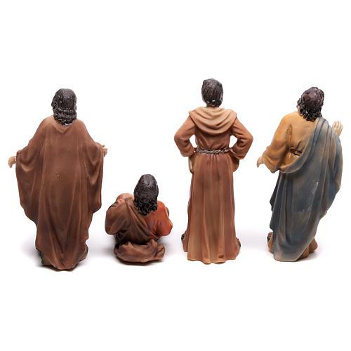 Statuine popolo scena condanna a Gesù 9 cm 5