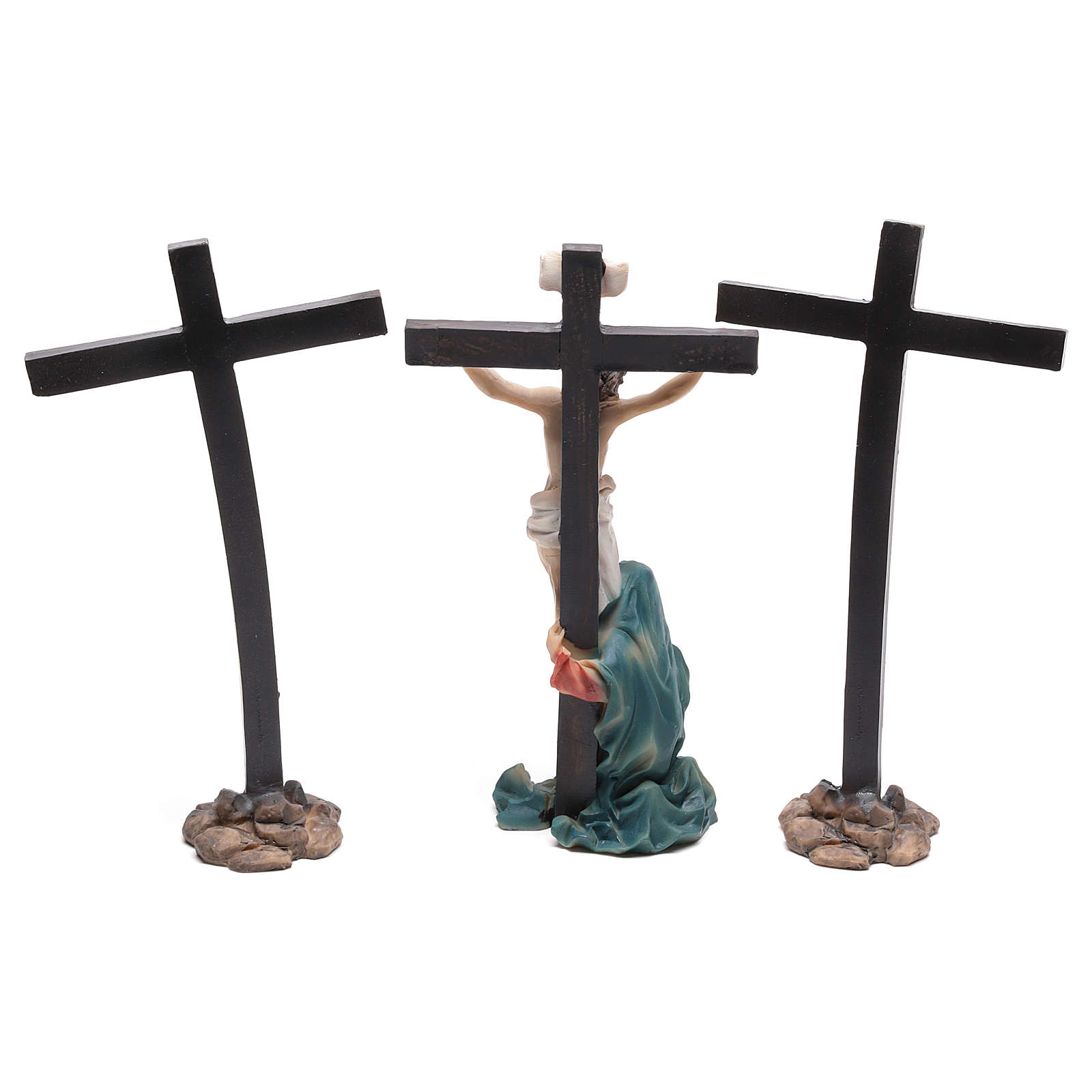Jesus on the cross with Mary at his feet 9 cm 4