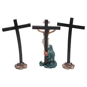 Escena de Jesús en la cruz con María a sus pies 9 cm s4