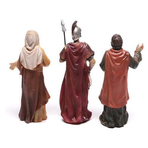 Escena de Jesús en la cruz con María a sus pies 9 cm 5
