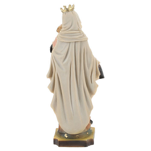Hand painted resin statue of Our Lady of Mount Carmel 14.5 cm.  5
