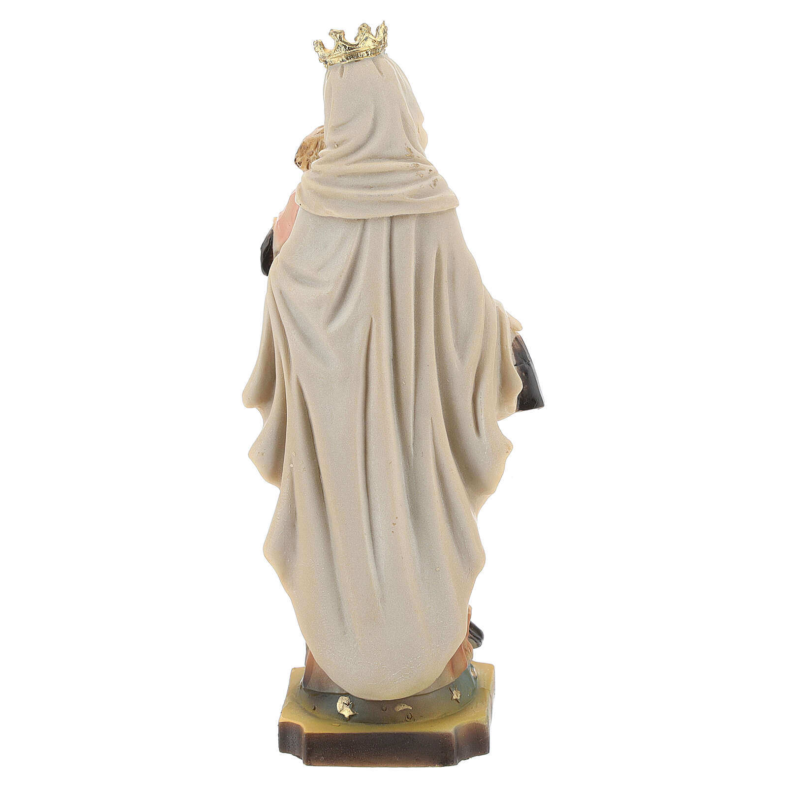 Our Lady Mount Carmel statue in resin 14 cm 4