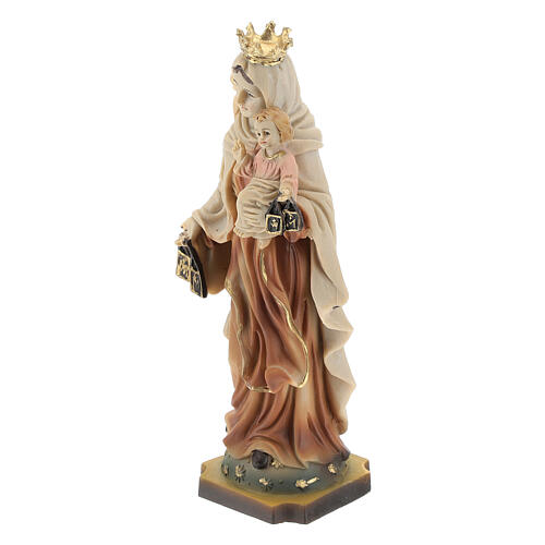 Our Lady Mount Carmel statue in resin 14 cm 3