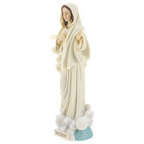 Hand painted resin statue of Our Lady of Medjugorje, Queen of Peace, height 22 cm s3