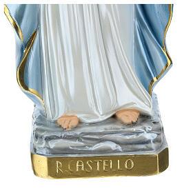 Estatua Reina del Castillo yeso nacarado 60 cm s4
