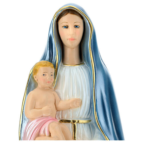 Statue Virgin Queen of the Castle mother of pearl plaster 60 cm 2
