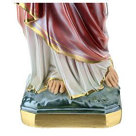 Statue Sacré-Coeur de Jésus plâtre nacré 60 cm s4