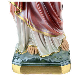 Sacred Heart of Jesus statue 60 cm, in mother of pearl plaster s4