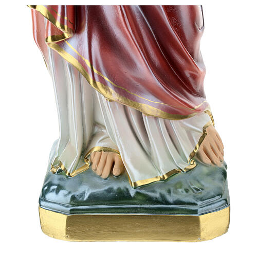 Sacred Heart of Jesus statue 60 cm, in mother of pearl plaster 4