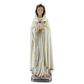 Estatua María Rosa Mística yeso nacarado 30 cm s2