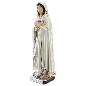 Estatua María Rosa Mística yeso nacarado 30 cm s3