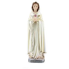 Statua Maria Rosa Mistica gesso madreperlato 30 cm s1