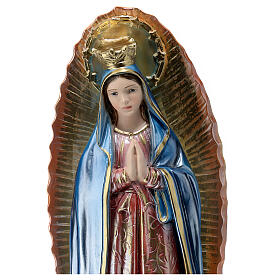 Madonna di Guadalupe 40 cm gesso madreperlato