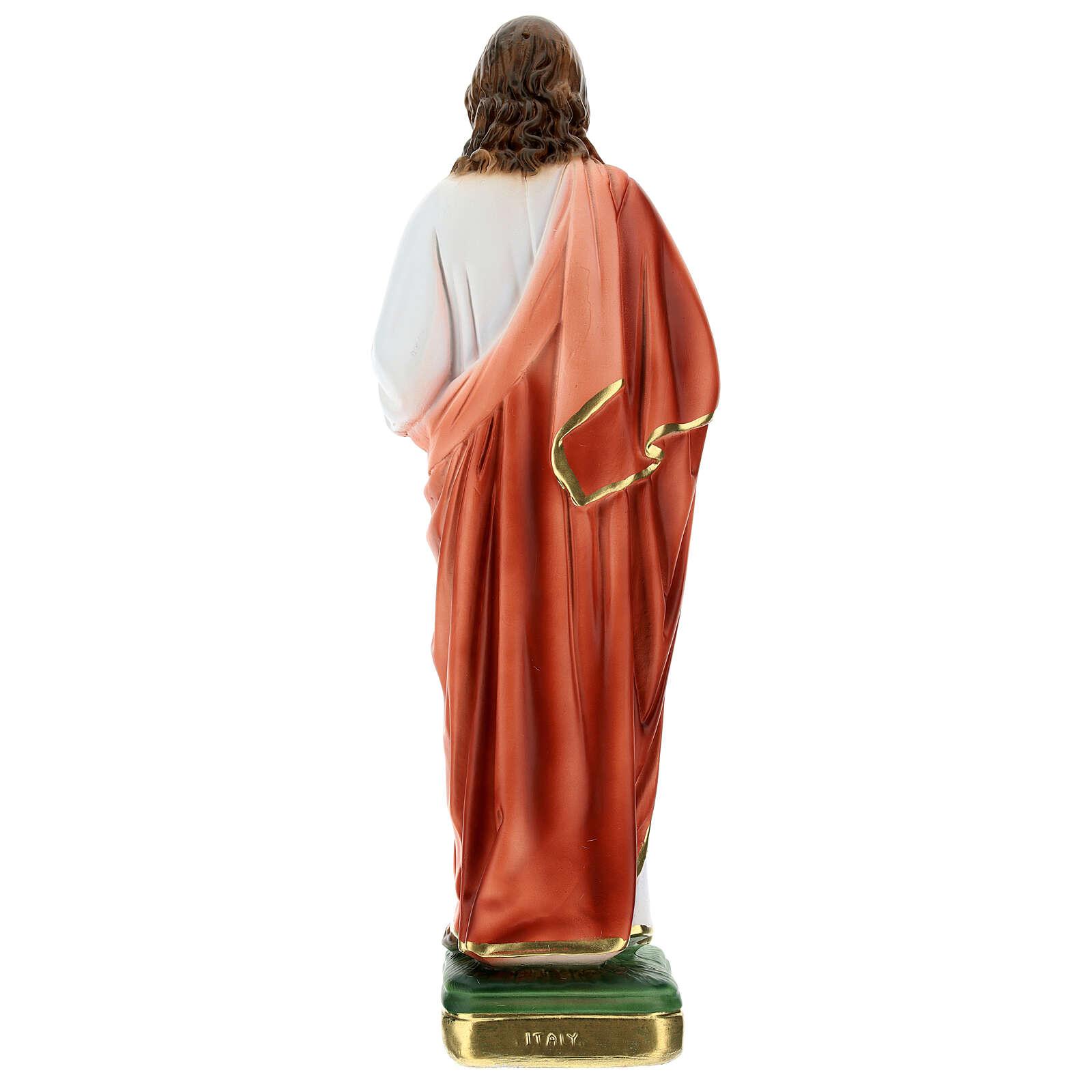 Sagrado Corazón que bendice 30 cm estatua yeso 4