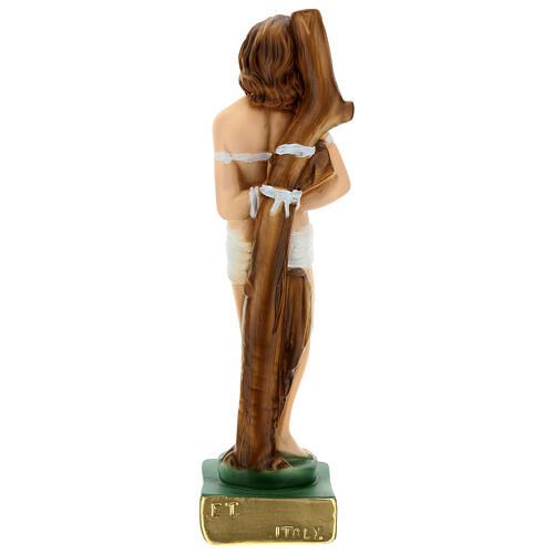 San Sebastiano 30 cm statua gesso 6