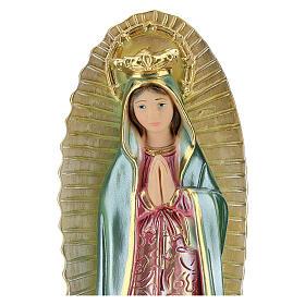Notre-Dame Guadalupe 25 cm plâtre nacré s2