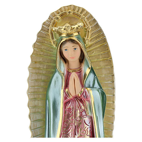 Virgin Mary of Guadalupe 25 cm plaster mother of pearl 2