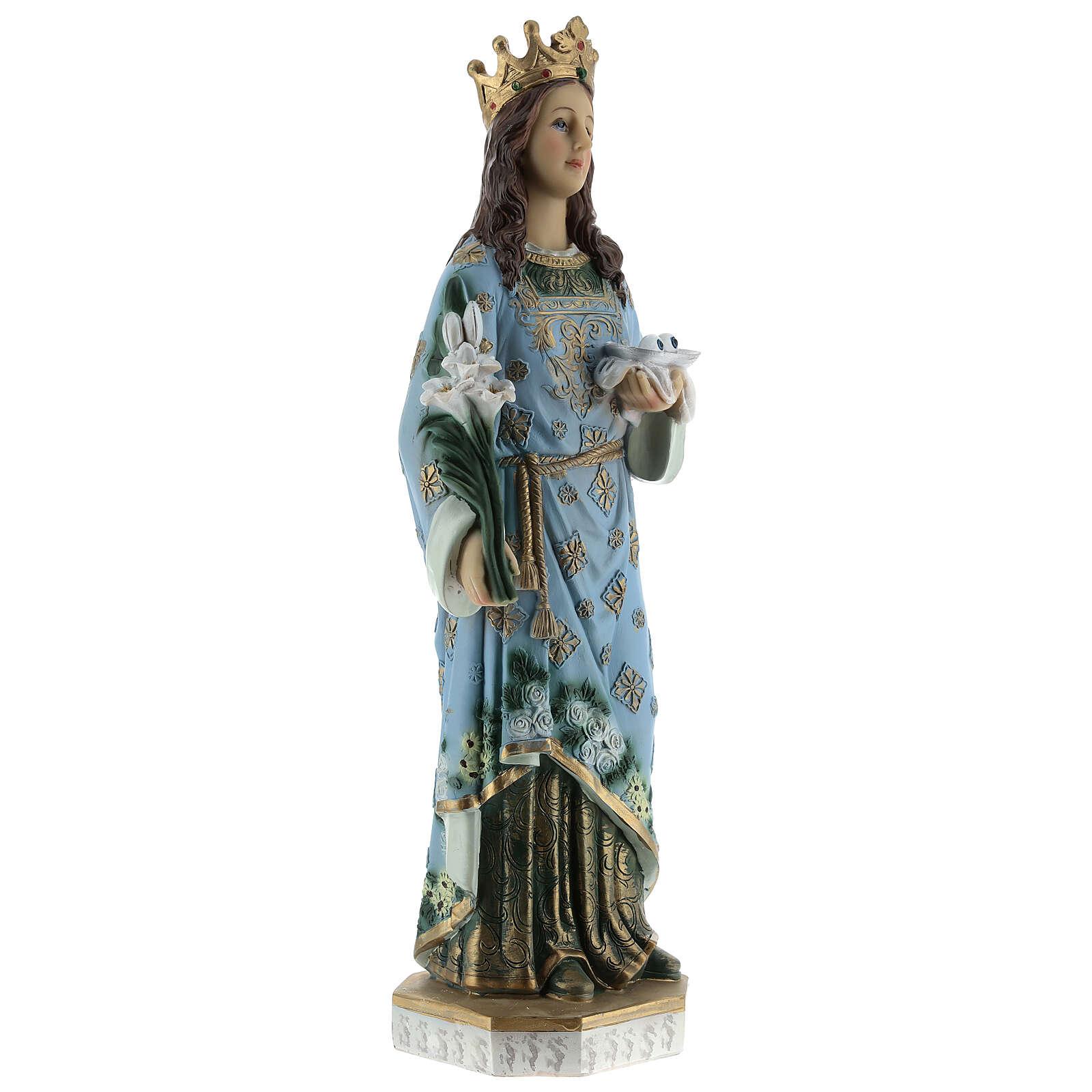 Estatua Santa Lucía de Siracusa resina 30 cm 4