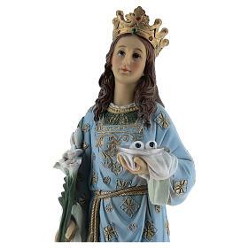 Estatua Santa Lucía de Siracusa resina 30 cm s2