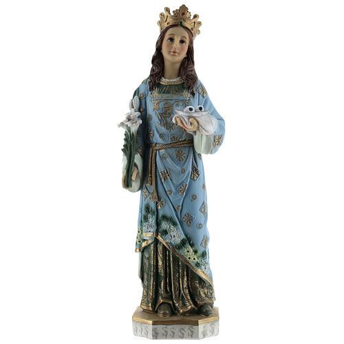 Estatua Santa Lucía de Siracusa resina 30 cm 1
