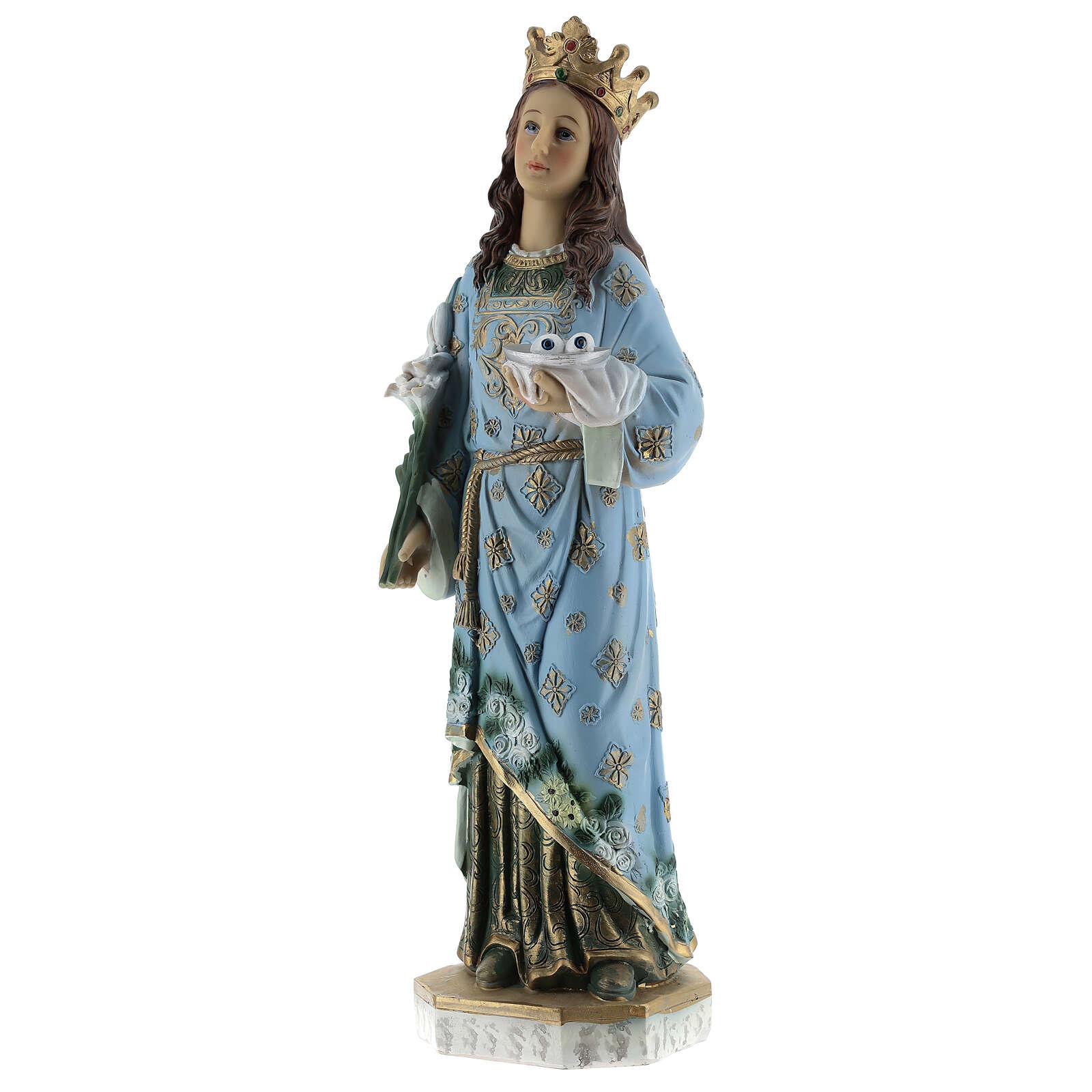 Statua Santa Lucia di Siracusa resina 30 cm 4