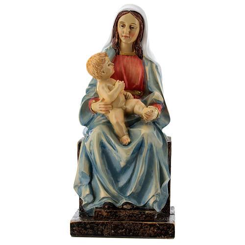 Madonna mit dem Jesuskind aus Harz, 20 cm
