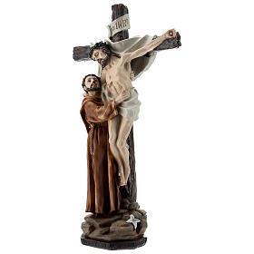 Statue Saint François dépose Jésus de la Croix résine 30 cm s2